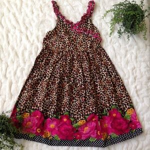 YOUNGLAND cheetah print dress